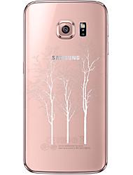 Недорогие -Кейс для Назначение SSamsung Galaxy Samsung Galaxy S7 Edge Прозрачный / С узором Кейс на заднюю панель дерево Мягкий ТПУ для S7 edge / S7 / S6 edge plus