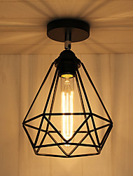 cheap -Vintage Loft Ceiling Lamp Light Direction Adjustable Wrought Iron Birdcage Flush Mount Entry Hallway Kitchen lights