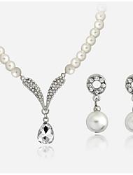 Bijoux Colliers décoratifs Boucles d'oreille Collier / Boucles d'oreilles Set Boîtes et sacs cadeaux Ajustable AdorableMariage Soirée