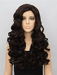 Brown Long Synthetic Wigs Wave New Fashion Heat Resistant Synthetic Women Party Wig