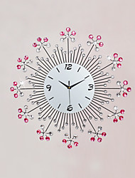 cheap -Modern Style Fashion Diamond Mute Wall Clock