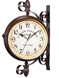 Недорогие -1pc металлический европейский стиль старинные железные настенные часы украшения домашней обстановки