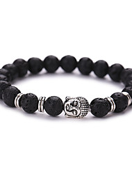 cheap -Buddha Head Buddha Beads Energy Volcano Stone Bracelet  #YMGS1003 Christmas Gifts