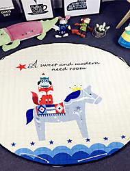 """White Horse Toys Storage Bag Carpet Kids Game Mats diameter 59"""" baby Crawling multifunctional round blanket Play Rug"""