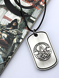 abordables -Joyas Inspirado por Assassin's Creed Cosplay Anime/Videojuego Accesorios de Cosplay Collares Plata Aleación Hombre / Mujer