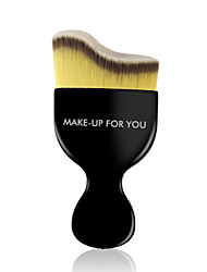 cheap -1 Foundation Brush Synthetic Hair Travel Professional Plastic Face
