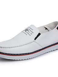abordables -Hombre-Tacón Plano-Confort-Zapatos de taco bajo y Slip-Ons-Informal-Cuero-