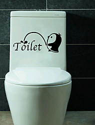 Недорогие -Мода Наклейки Простые наклейки Декоративные наклейки на стены / Наклейки на холодильник / Наклейки для туалета,PVC материал Съемная