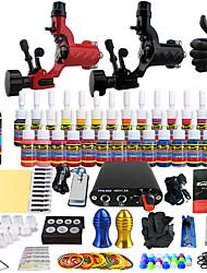 Starter Tattoo-Kits 2 x-Legierung Tattoo Maschine für Futter und Schattierung Mini Stromversorgung 5 x Tattoonadeln RL 3 5 x Tattoonadeln