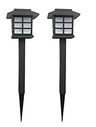 Pack of 2 Solar Lawn Lamp Garden Stake Light Pathway Walkway