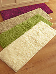 "MultiColor Sulid Microfiber Rugs for Kitchen, Entry Way, Laundry Room 24""*63""(60*160CM)"