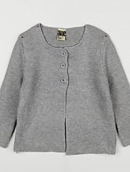 preiswerte -Bluse Alltag Solide Baumwolle Herbst Grau Purpur Rosa