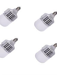 billige -4stk 1300lm E26 / E27 LED-globepærer A60(A19) 24 LED Perler SMD 5630 Dekorativ Kold hvid 220-240V