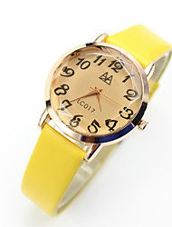 billige -Dame Armbåndsur Quartz Afslappet Ur Læder Bånd Analog-digital Vintage Afslappet Mode Sort / Blåt / Pink - Gul Blå Lys pink