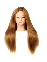 cheap -YAKI Synthetic Hair Salon Female Mannequin Head with Make-up