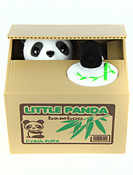 cheap -Itazura Coin Bank / Money Bank Coin Bank / Money Bank Stealing Coin Bank Saving Money Box Case Piggy Bank Toys Cute Electric Square Panda