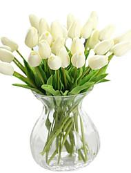 cheap -1 1 Branch Silk PU Tulips Tabletop Flower Artificial Flowers