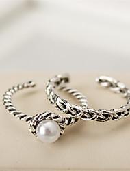 Mittelfingerring Perle Modisch Vintage Silber Schmuck Normal 1 Set