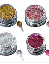 cheap -1 Bottle Nail Art Laser Colorful Glitter Shining Powder Manicure Makeup Decoration Nail Beauty L1-4