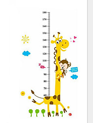 cheap -Art Decals Warm Child Room Kids Height Measure Monkey Giraffe Wall Poster Wall Stickers