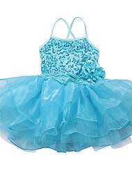 cheap -Fashion Girls Kids Dancewear Leotard Ballet Tutu Skate Performance Costume Sequined Top Flower Dance Dress with Straps