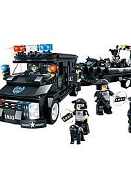 Blocs de Construction Voiture de Police Jouets Automatique Garçon Garçons Pièces