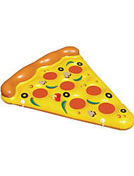 cheap -Water Toy Giant Yellow Inflatable Pizza Floating Bed 180 * 150 CM/raft Air Mattress