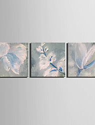 Mini Size E-HOME Oil painting Modern Pigment Blue Flowers Pure Hand Draw Frameless Decorative Painting