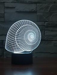 Недорогие -горячий продавать 3D-эффект 3D-эффект улитка стол форма оболочки с лампой цвет меняющейся ночной свет