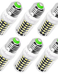 E14 E26/E27 Ampoules Maïs LED T 64 diodes électroluminescentes SMD 5733 Décorative Blanc Chaud Blanc Froid 560lm 3000/6000K AC 100-240V