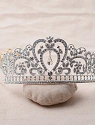 Недорогие -горный хрусталь сплав тиары головные уборы головной убор классический женский стиль