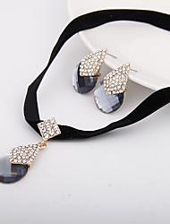 preiswerte -Damen Schmuckset Halskette / Ohrringe Luxus Simple Style Hochzeit Party Alltag Normal Diamantimitate Ohrringe Halsketten