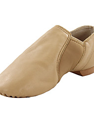 Kids' Dance Shoes Leatherette Leatherette Jazz / Dance Boots Flats Flat Heel Professional / Indoor Black / Brown