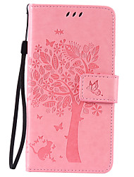 cheap -PU Leather Material Cat and Tree Pattern Phone Case for LG K10/K8/K5/K7/K4/G5/G4/G3/V10