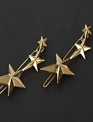 cheap -European Style Gold Star Shape Hair Clip Barrette Pins for Lady Casul Hair Jewelry