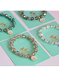 Da donna Braccialetti del filo Cristallo Di tendenza Con perline Strass Rotondo A forma di fiore Margherita Gioielli Per Quotidiano Casual