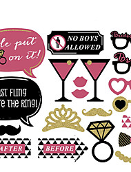 20 Pcs Party Photo Booth Props Holiday Decorations Party MasksCool For Hen-night
