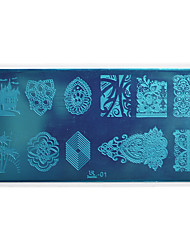 1pcs Nail Art Stamping Plate Colorful Image Design DIY Image painting Nail Tool UB01-05