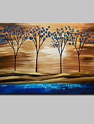 baratos -Pintura a Óleo Pintados à mão - Abstrato / Paisagens Abstratas Modern Com Moldura