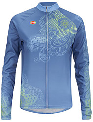 Sports Bike/Cycling Tops Men's Long Sleeve Antistatic / Windproof / Ultra Light Fabric / Soft / Thermal / WarmLYCRA® /
