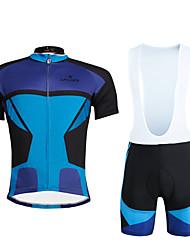 abordables -ILPALADINO Maillot de Ciclismo con Shorts Bib Hombre Unisex Manga Corta Bicicleta Sets de Prendas Secado rápido Resistente a los UV