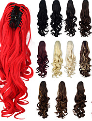 Excellent Quality Synthetic 20 Inch 180g Long Curly Claw Jaw Clip On Ponytail Hairpiece Extensions