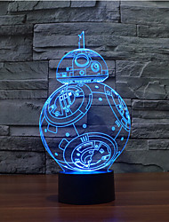 cheap -Touch Dimming 3D LED Night Light 7Colorful Decoration Atmosphere Lamp Novelty Lighting Light