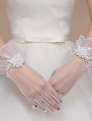 K zápěstí Bez špiček Rukavice Polyester Tyl Pro nevěstu Party rukavičky Jaro Léto Podzim Zima Květiny