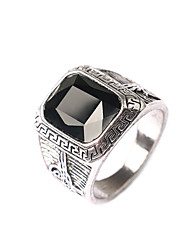 Man's Europe And The United States Men Black Is Noble gem ring Diamond Ring Christmas Gifts