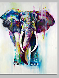 cheap -Handmade Elephant Painting Animal Wall Art Acrylic Artwork Ready to Hang For Home Decor