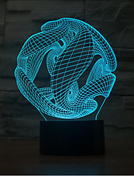 Abstract Touch Dimming 3D LED Night Light 7Colorful Decoration Atmosphere Lamp Novelty Lighting Light