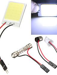 2pcs auto pannocchia 24 chip LED auto interni luce t10 festone della luce di parcheggio auto luce di pannello pannocchia 12v (DC12V)