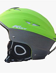 Unisex Casco L: 58-61CM Sport Ultra leggero (UL) Fisso 14 CE EN 1077 Sport da neve / Sci Verde PC / EPS