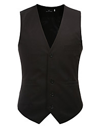 cheap -Men's Slim Vest - Solid